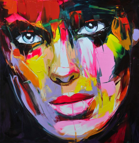 Explosive Colorful Portraits Paintings By Francoise Nielly - 08