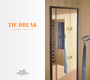 La corbata perfecta >>> Tie Break App by Hermès